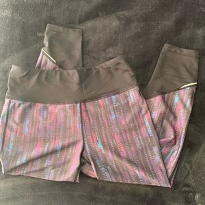 PrAna athletic leggings with reflective accents